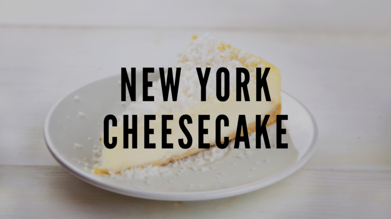Big Apple Special: New York Cheesecake